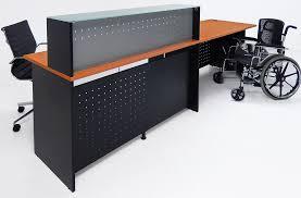 Ada Compliant Reception Desk Glass Top Wheelchair Accessible Reception Desk