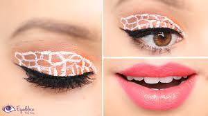 Giraffe Halloween Makeup Giraffe Print Eyeshadow Tutorial By Eyedolizemakeup Youtube