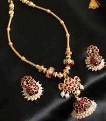 stunning unique temple jhumkka pendant temple necklace set