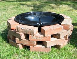 how to build a outdoor fire pit with brick home outdoor decoration