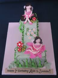 blissfully sweet 1 enchanted fairy garden birthday cake