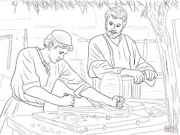 jesus christ the son of a carpenter coloring page free printable