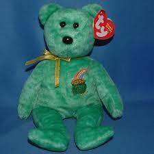 ty beanie baby st patrick u0027s day killarney green plush pot of gold