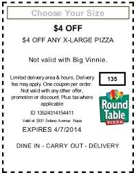 Round Table Discount Round Table Pizza Printable Coupons U2013 Thelt Co