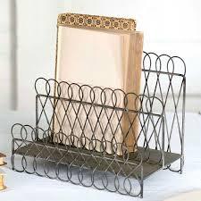 Wire Desk Organizer by Wire Table Top Organizer Desk Filer Vintage Desk Filer Metal