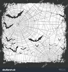 halloween border design bats silhouettes scary stock vector