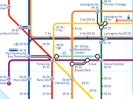 a map nyc project york subway map in the style of the