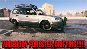 rocket bunny subaru forester widebody subaru forester drifting in snow youtube