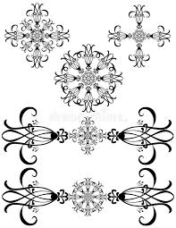 fancy detailed decorations stock vector image 2874069
