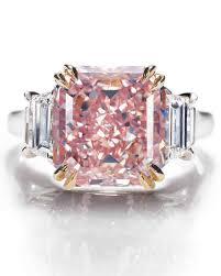 Pink Diamond Wedding Rings by Asscher Cut Diamond Engagement Rings Martha Stewart Weddings