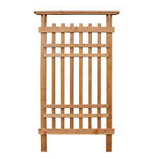 shop garden architecture 36 in w x 61 in h stained garden trellis