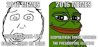 Meme Vs Rage - 2010 vs 2016 memes pepe the frog know your meme