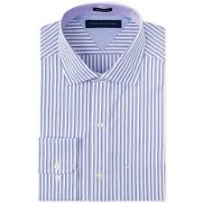tommy hilfiger purple stripe dress shirt in purple for men lyst
