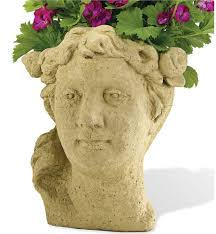 lady u0027s head planter garden statues wind u0026 weather