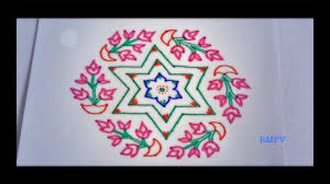 45 kolam designs for festivals simple flower and pot rangoli design with colours for festivals and