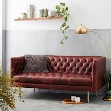 modern chesterfield sofa modern chesterfield loveseat sofa leather oxblood leather