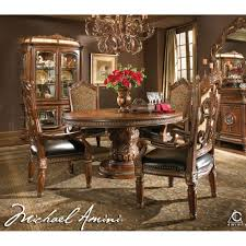 michael amini dining room michael amini 5pc villa valencia round oval dining table set 4