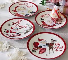 santa plates pottery barn