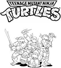 ninja turtle color pages glum me