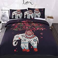 amazon com sleepwish 4 pcs bohemian bedspread ethnic elephant