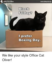 Boxing Day Meme - alley cat allies wwwalleycatorg nack fridays i prefer boxing day