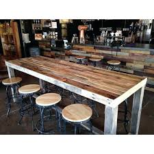 long counter height table rustic counter height table reclaimed wood bar counter community