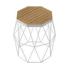 Wire Side Table Modern Contemporary Oak Side Table Stool White Steel Wire Base