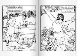 good evil coloring book 1 creation fall man cain