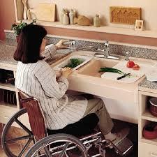 handicap accessible kitchen sink barrier free kitchens