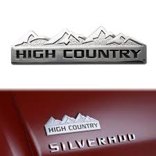 chevrolet car logo 3d silver high country car auto aluminum emblem sticker for chevy