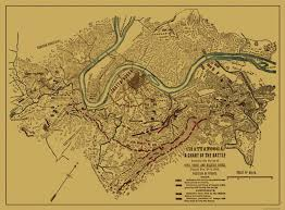 Map Of Tennesse Civil War Map Chattanooga Battle Tennessee 1863