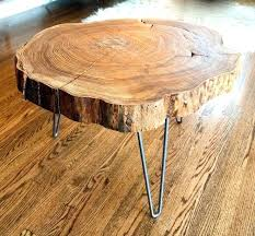 Log Side Table Log Side Table Best Tree Trunk Coffee Table Ideas On Throughout