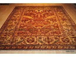 new persian orange red 8 u0027 x 9 u0027 vegetable dyed chobi rug handmade