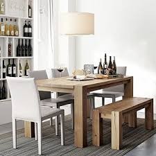 White Leather Dining Room Set Folio Oyster Leather Side Chair Big Sur Dining Table I Crate And