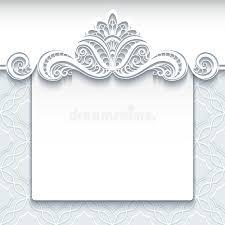 wedding invitation template white lace background wedding invitation template stock vector