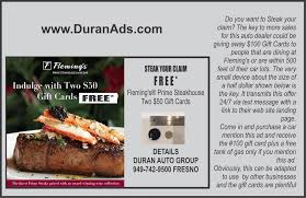 flemings gift card digital device for auto dealer with gift card agency compile