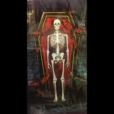halloween coffins decorations life size skeleton bones halloween party wall door decorations
