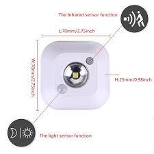 mini wireless pir motion sensor night light for porch cabinet