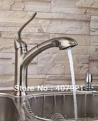 Satin Nickel Kitchen Faucet Brushed Nickel Kitchen Faucet With Stainless Steel Sink