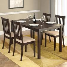 Cherry Wood Dining Room Tables by Amazon Com Corliving Drg 795 Z Atwood 5 Piece Dining Set With