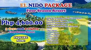 el nido package at four season resort for only p4600