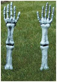 Halloween Skeleton Decoration Ideas Skeleton Arm Lawn Stakes