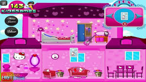 Full Home Decoration Games Hello Kitty Doll House Decoration Game For Children Youtube