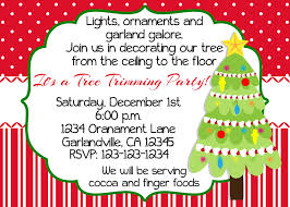 christmas tree trimming party invitation print your own 5x7 or