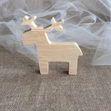 Christmas Moose Home Decor Wooden Reindeer Christmas Decor Plain Wood Moose Gift Idea