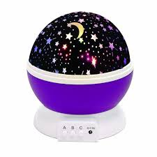 Baby Lamp Solmore Usb Rotate Led Starry Night Lamp Star Moon Sky Romantic