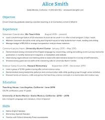 Teacher Resume Objective Best Resume by Sample English Teacher Resume Best Resume Images On Teaching