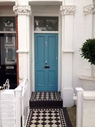 Teal Front Door by The London Door Company Putney London Farrow And Ball Stone