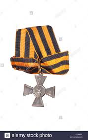 black and yellow ribbon russian cross of st george with black yellow ribbons third class