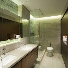 portfolio 9 light bathroom contemporary with cove lighting nickel